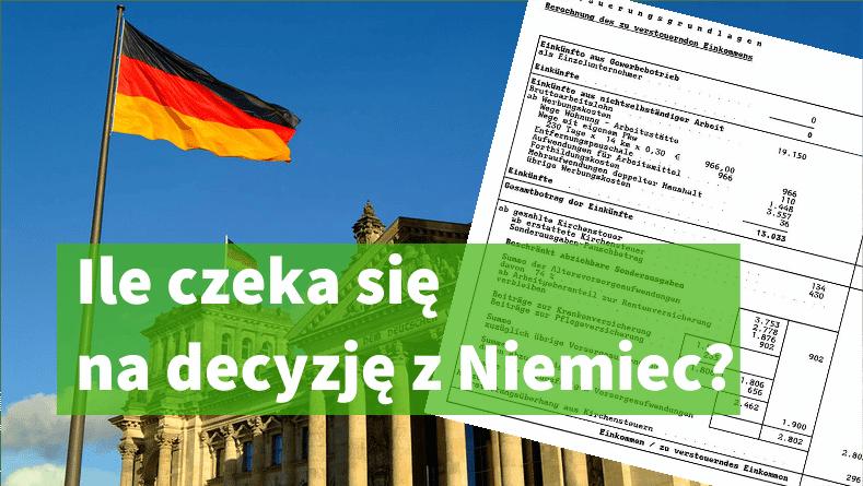 Ile czeka się na decyzję podatkową Steuerbescheid?